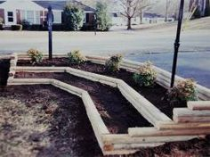 Railroad ties used in landscaping design for the garden railroad ties used in landscaping design for the garden pinterest railroad ties landscape designs and landscaping workwithnaturefo