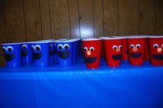 Elmo & Cookie Monster Cups