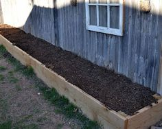 Square Foot Garden- The Soil -- I want to do this around the shed.