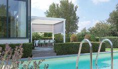 Flexibelt tak – markis, terrasstak. Bild från Miljöma.