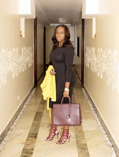 Nelly Mwangi  nairobi blogger stying he LBD and YSL sac de jor bag