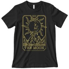 Moon Tarot Shirt Photos On Facebook, Clothes 2019, Gothic Outfits, New Shop, Trendy Tops, Halloween Outfits, Tarot, Moon, Unisex