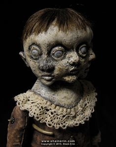 Conjoined Triplets – Exquisite Monster Art Doll  by Shain Erin, via Flickr