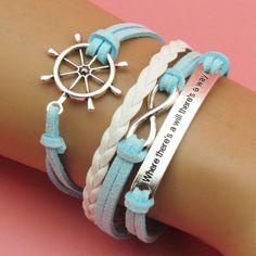Light Blue Infinity Bracelet || $6.50