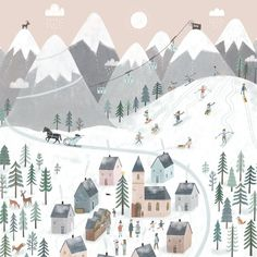 Fashion Illustration Design Advent calendar 2019 by Tina Schulte Christmas Art, Winter Christmas, Xmas, Christmas Tables, Nordic Christmas, Modern Christmas, Christmas Design, Christmas Stockings, Winter Illustration