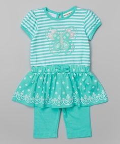 Buster Brown Cockatoo Butterfly Tunic & Leggings - Infant & Toddler by Buster Brown #zulily #zulilyfinds