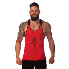 Gym Singlets Tank Tops - Sports Clothes. Hombres Fitness ... 8cb3cda8eb90