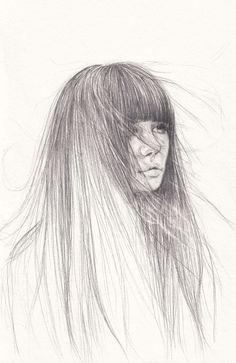 «December girl» https://www.behance.net/gallery/46646375/december-girl  #girl #pencil #drawing #art #sketch #hair