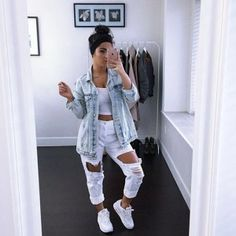 most popular outfits ideas with ripped jeans for summer 25 ~ my.me Source by carmenindhira outfits ideas everyday Dope Outfits, Cute Casual Outfits, Fall Outfits, Summer Outfits, Jean Outfits, Casual Wear, Teen Fashion, Fashion Outfits, Fashion Trends