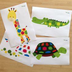 """""""Pia Polya Şekilleri Aynı Renkteki Yerlerine Yapıştırma"""" 18ay ve 36 ay çocuklar için uygundur."""