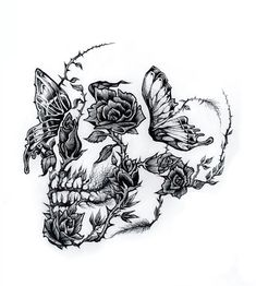 Illistration by Adam Isaac Jackson . - Illistration by Adam Isaac Jackson You a - Small Skull Tattoo, Skull Tattoo Flowers, Skull Rose Tattoos, Flower Tattoos, Body Art Tattoos, Small Tattoos, Crown Tattoos, Heart Tattoos, Dragonfly Tattoo