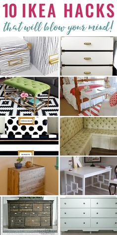 These are some of the best Ikea hacks I have ever seen, and some of them are easy enough for beginners. I especially love numbers 4 and 9!