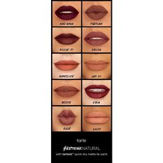 tarteist quick dry matte lip paint via Polyvore featuring beauty products, makeup and lip makeup