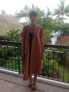 Fijian Wedding. Suzanne Rae Kimono SS15, Zanotti Sandals, Zambesi Dress.