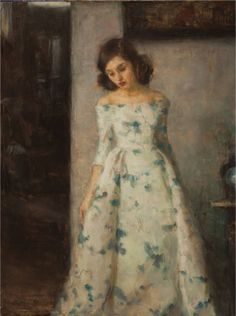 Lady of the House -  Ron Hicks  American painter b.1965  Impressionism