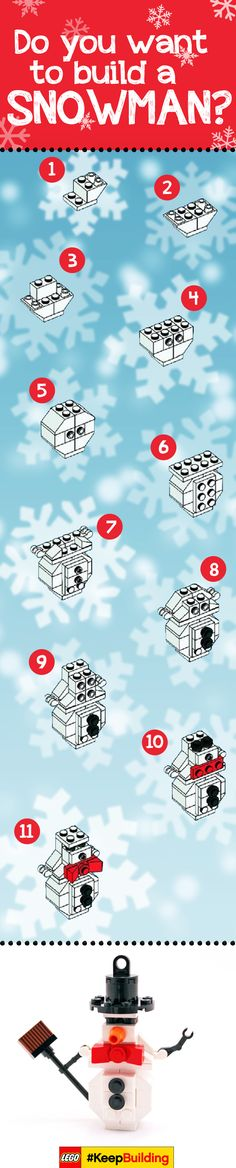 Do you want to build a snowman?! (Repinned from The LEGO Group--doesn't link out)
