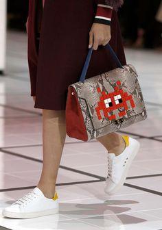 e775251b4e Anya Hindmarch Fall 2016 Skirt And Sneakers