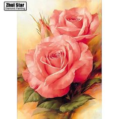 Diy Diamond Painting Kit Full Square Drill Diamond Embroidery Painting Rhinestones Red Hot Lucky Flower For Home Decoration  #Affiliate