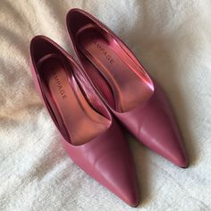"Rampage Pink Heels Rampage Pink Heels. Approximately 2-3/4"" heel. Manmade materials.very good condition. Rampage Shoes Heels"