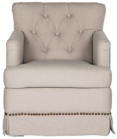Millicent Swivel Accent Chair - Brass Nail Heads MCR4676A