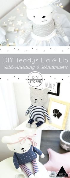 DIY teddy bears Lia & Lio to cuddle – step by step sewing instructions & patterns at diy-stoffe.de DIY teddy bears Lia & Lio to cuddle – step by step sewing instructions & patterns at diy-stoffe. Sewing Toys, Sewing Crafts, Sewing Projects, Kids Toys For Boys, Diy For Kids, Love Sewing, Baby Sewing, Diy Teddy Bear, Teddy Bears