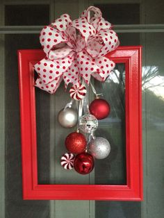Diy christmas decorations 158470480626114682 - 60 DIY Picture Frame Christmas Wreath Ideas that totally fits your Budget – Hike n Dip Source by srirupmazumdar Diy Christmas Decorations For Home, Christmas Crafts To Make, Christmas Projects, Simple Christmas, Holiday Crafts, Christmas Ornaments, Decoration Crafts, Burlap Christmas, Christmas Tables