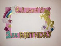 Birthday party unicorn photo booths 16 Ideas for 2019 Rainbow Unicorn Party, Unicorn Themed Birthday Party, Rainbow Birthday Party, Birthday Party Themes, Birthday Photo Frame, Birthday Photo Booths, Birthday Frames, Rainbow Party Decorations, Diy Birthday Decorations