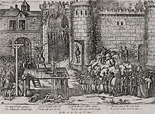 Execution of the conspirators of Amboise (the reformed party had planned the abduction of the young king François II) François Ii, Fight For Freedom, French History, Le Palais, Some Image, Illustrations, History Books, Gravure, 16th Century