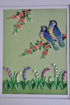 23 Easy Paper Quilling Ideas For Kids Paper Quilling Flowers, Paper Quilling Patterns, Neli Quilling, Quilled Paper Art, Quilling Paper Craft, Craft Patterns, Bird Paper Craft, Art N Craft, Paper Crafts