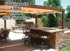 Happiness is a BBQ, friends, and a ShadeTree.