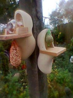 Wooden Shoe Birdhouses....love it!