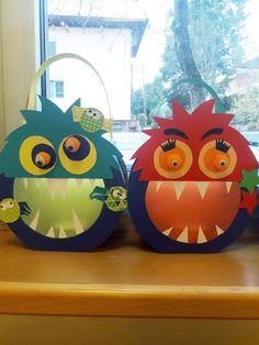 Monster Lanterns – All For Decoration Thanksgiving Green Beans, Thanksgiving Crafts, Diy For Kids, Crafts For Kids, Lantern Crafts, Diy And Crafts, Paper Crafts, Haunted Dolls, Saint Martin