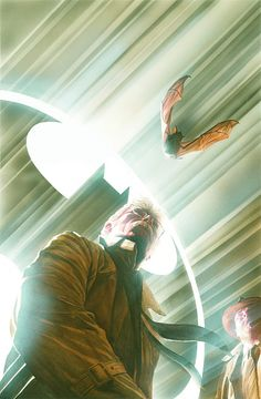 Searching the night skies for Batman, by Alex Ross Comic Book Artists, Comic Book Characters, Comic Artist, Comic Character, Alex Ross, Arte Dc Comics, Dc Comics Art, Im Batman, Batman Art