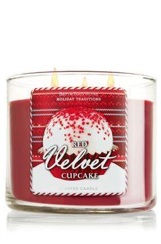 Red Velvet Cupcake 14.5 oz. 3-Wick Candle - Slatkin & Co. - Bath & Body Works