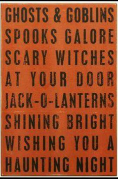 A Haunting Night Halloween Canvas, Halloween Quotes, Halloween 2, Jack Lantern, Scary Witch, Scary Halloween Decorations, Box Signs, Night, Autumn