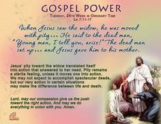 Gospel Power – Tuesday 24th Week