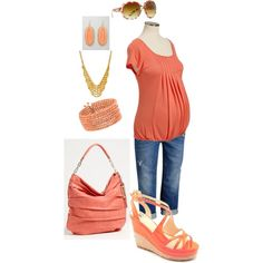 Maternity in Melon by miclynn1974 on Polyvore