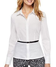 A basic white shirt is guaranteed to go with skirts, trousers, and jeans alike. These classic tops are a must-have for any wardrobe.