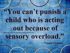 Autism, Temple Grandin, quote spread by  www.compassionateessentials.com