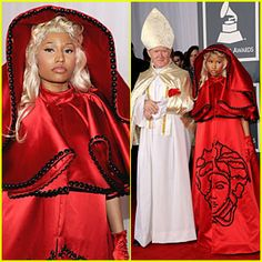 Nicki Minaj - 2012 Grammys. I love her, but I find the pope thing just offensive (and I'm not even Catholic). Not funny, not weird, just stupid and offensive.