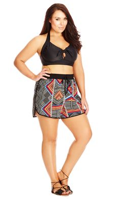 City Chic Island Dream Short - Women's skirt cover up