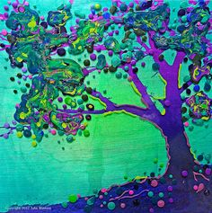 The Peacock Tree  Dreamtime  Giclee Print by EnergyArtistJulia, $48.00