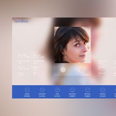 Face Recognition Page This is a single page website. Its purpose is to capture a photo of the user (using the built in camera found in mos. Design Food, Ui Design, Face Id, Layout, Landing Page Design, Marketing, App, Kids, Apps