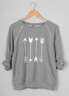 Cupshe Say Yes to the Arrow Sweatshirt Fall Winter Outfits, Autumn Winter Fashion, Casual Outfits, Fashion Outfits, Womens Fashion, Cute Outfits For School, What To Wear, Sweatshirts, Hoodies