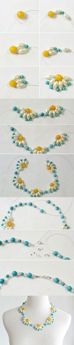 Tutorial - How to DIY a Flower Choker Necklace Step by Step from LC.Pandahall.com