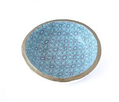 Decorative Turquoise Blue Trinket Ring Dish, jewellery storage solutions for your home by Lottieoflondon