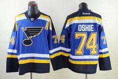 St. Louis Blues 74 TJ OSHIE 2014 Home Jersey - Royal Blue. NHL Hockey  Jerseys 18395b5dd
