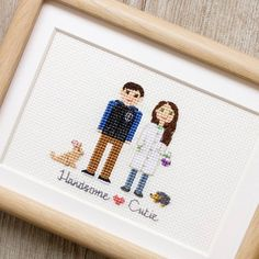 Do you remember this cute little hedgie I've posted recently?Here is the whole couple portrait. And the guy's spirit animal is as cute - it's a bunny rabbit!This is another Valentine's Day couple portrait we've stitched. I'll show others too!  #familylife #familyportrait #giftideas #mylove #fam #etsy #myeverything #portrait #myfam #familyphoto #gifts #happilyeverafter #secondhalf #otherhalf #my❤ #familygoals #lovebirds #hedgehog #couplegoals #mylittlefamily #hedgehogs #bunny #bunnyrabbit...