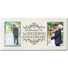 LifeSong Milestones Wedding Anniversary Picture Frame Gift for Couple 1 Year Anniversary Gifts for Him Her Photo Frame Holds Photos 8 Inches High X 16 Inches Wide (Ivory) Wedding Anniversary Pictures, First Wedding Anniversary Gift, Anniversary Funny, Anniversary Cards, Best Wedding Gifts, 6 Photos, Couple Gifts, Picture Frame, 1 Year