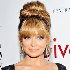 Nicole Richie: Square Face - Find the Best Bangs for Your Face Shape - Get Hollywood Hair - Hair - InStyle Nicole Richie, My Hairstyle, Hairstyles With Bangs, Weave Hairstyles, Bangs Updo, Haircuts, 2014 Hairstyles, Up Dos For Medium Hair, Medium Hair Styles